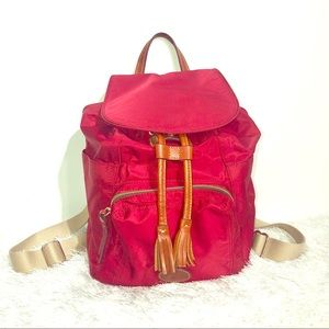 Dooney & Bourke Red Nylon Backpack